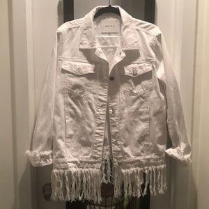 Blank NYC White Fringe Jacket